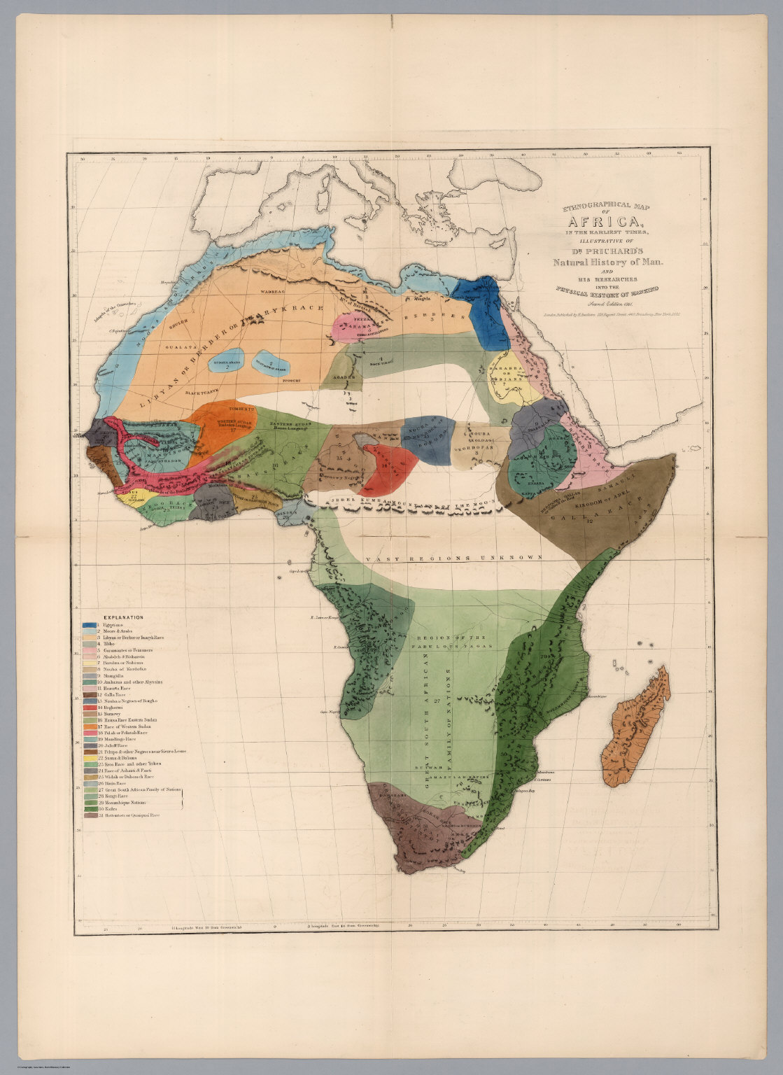 Ethnographical Map of Africa, in the Earliest Times.   David