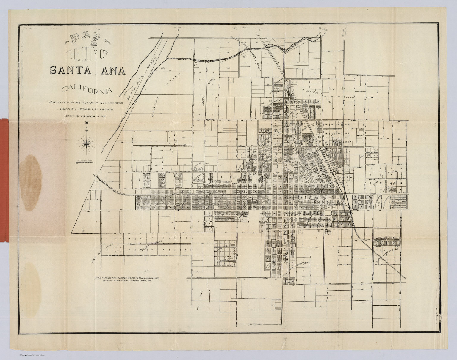 Santa Ana California David Rumsey Historical Map Collection