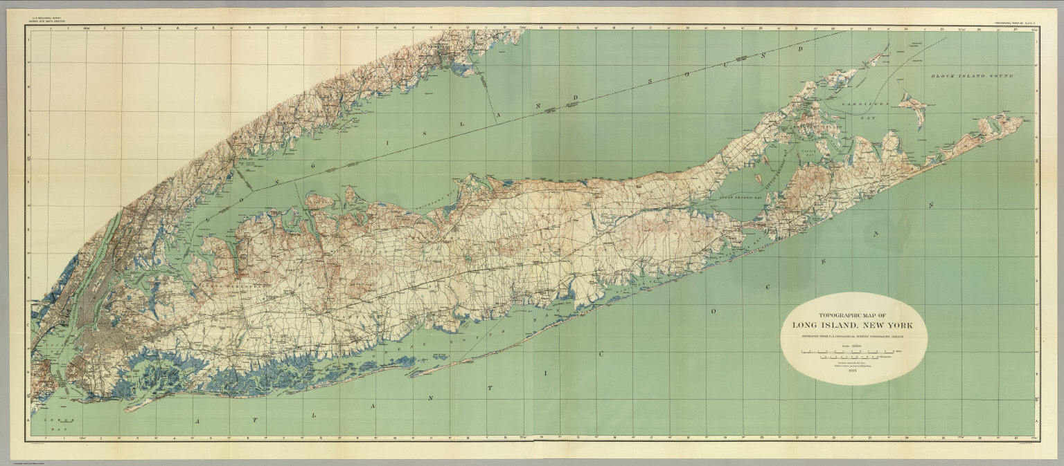 Topographic Map Long Island.Map Of Long Island New York David Rumsey Historical Map Collection