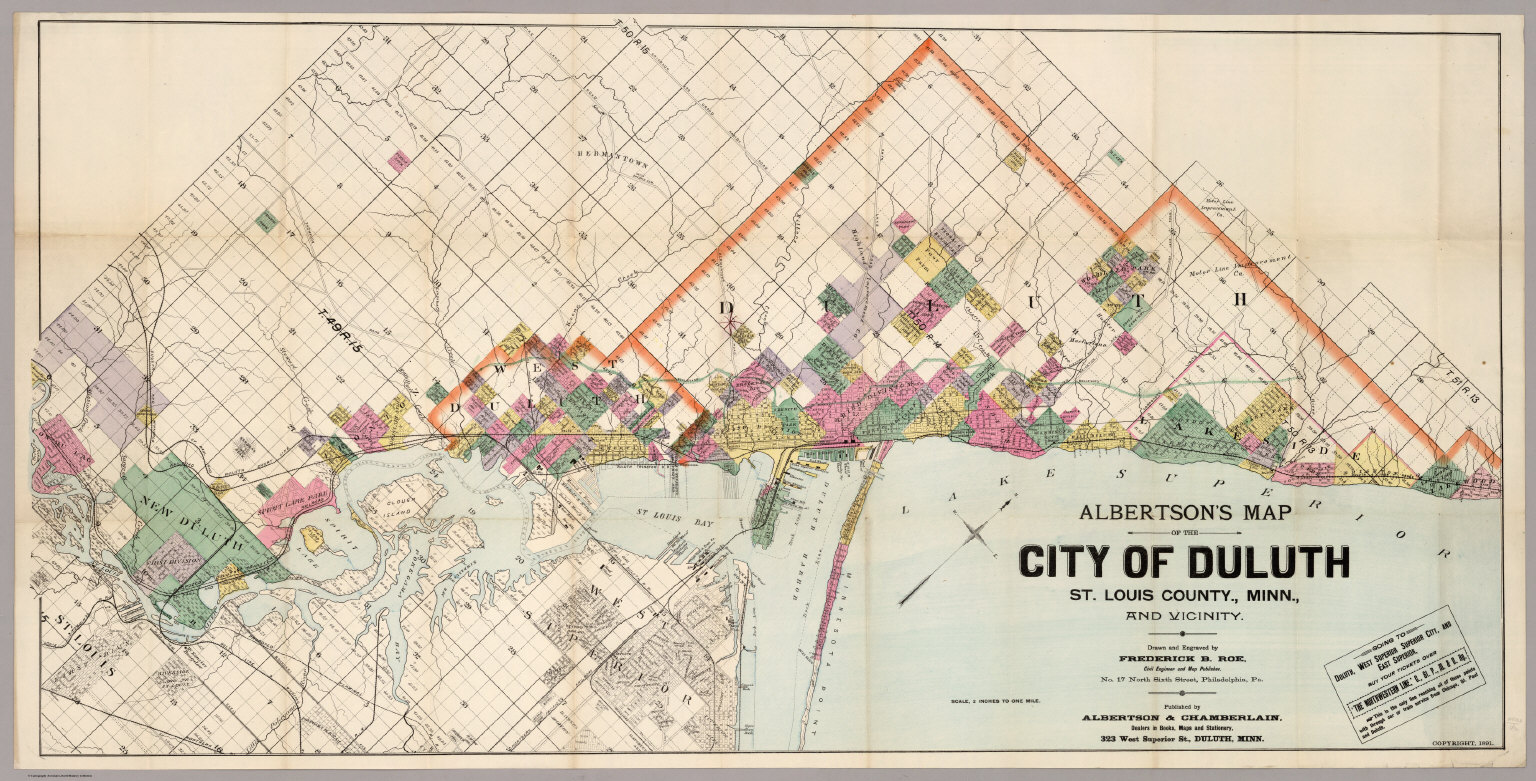 Map Of The City Of Duluth, St. Louis County, Minn. - David Rumsey ...