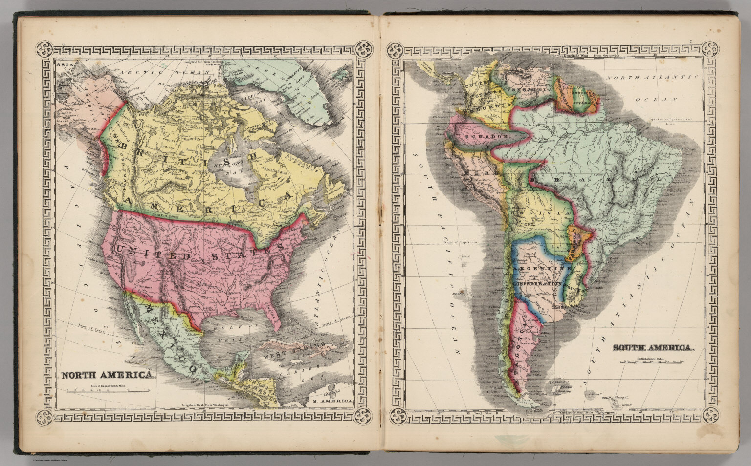 North America South America David Rumsey Historical Map Collection