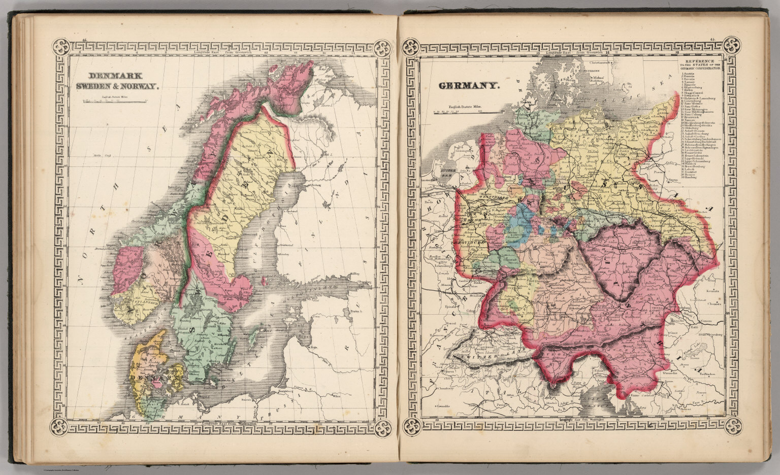Denmark sweden and norway germany david rumsey historical map denmark sweden and norway germany gumiabroncs