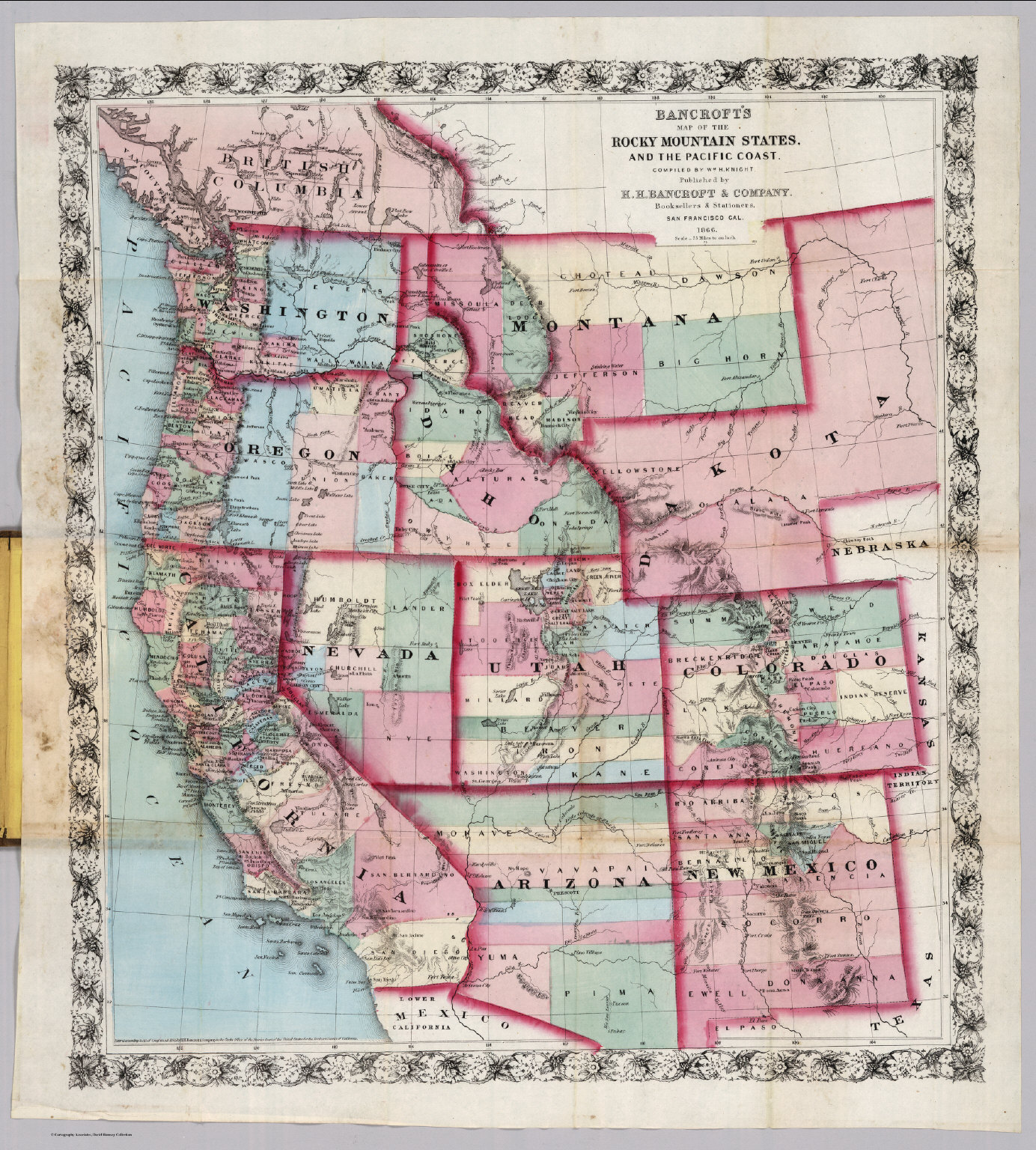 Rocky Mountain State Pacific Coast David Rumsey Historical Map