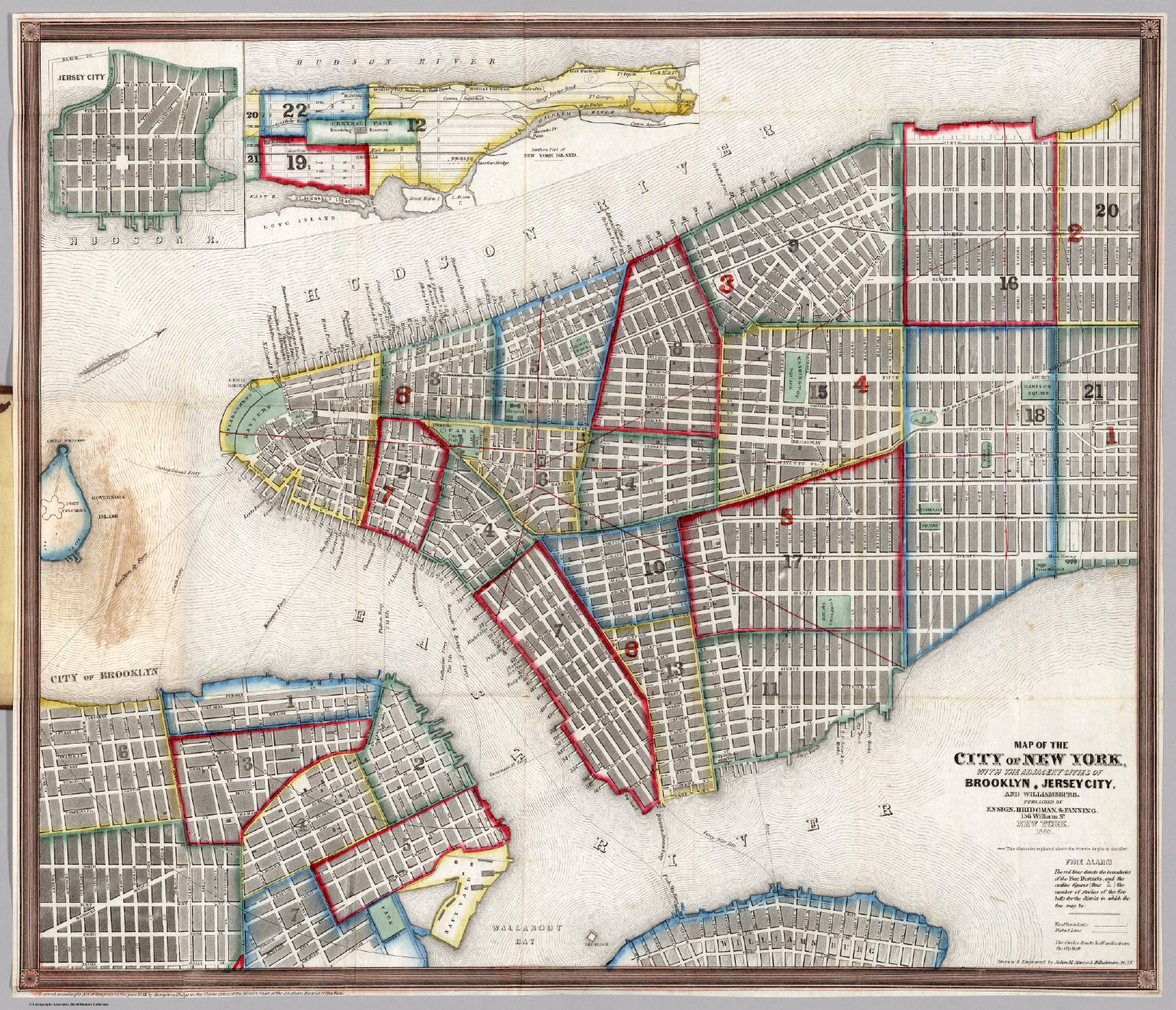 Map Of Cities In New York.Map Of The City Of New York David Rumsey Historical Map Collection