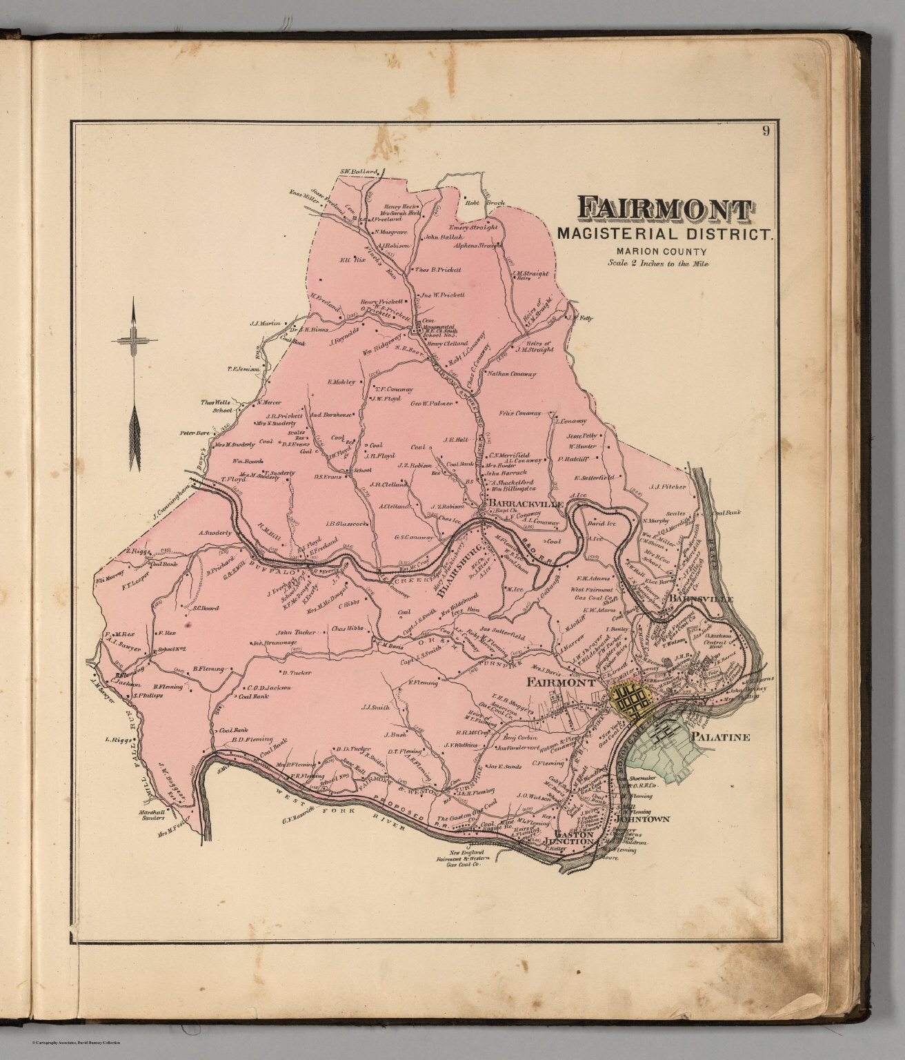 Marion Virginia Map.Fairmont Magisterial District Marion County West Virginia David