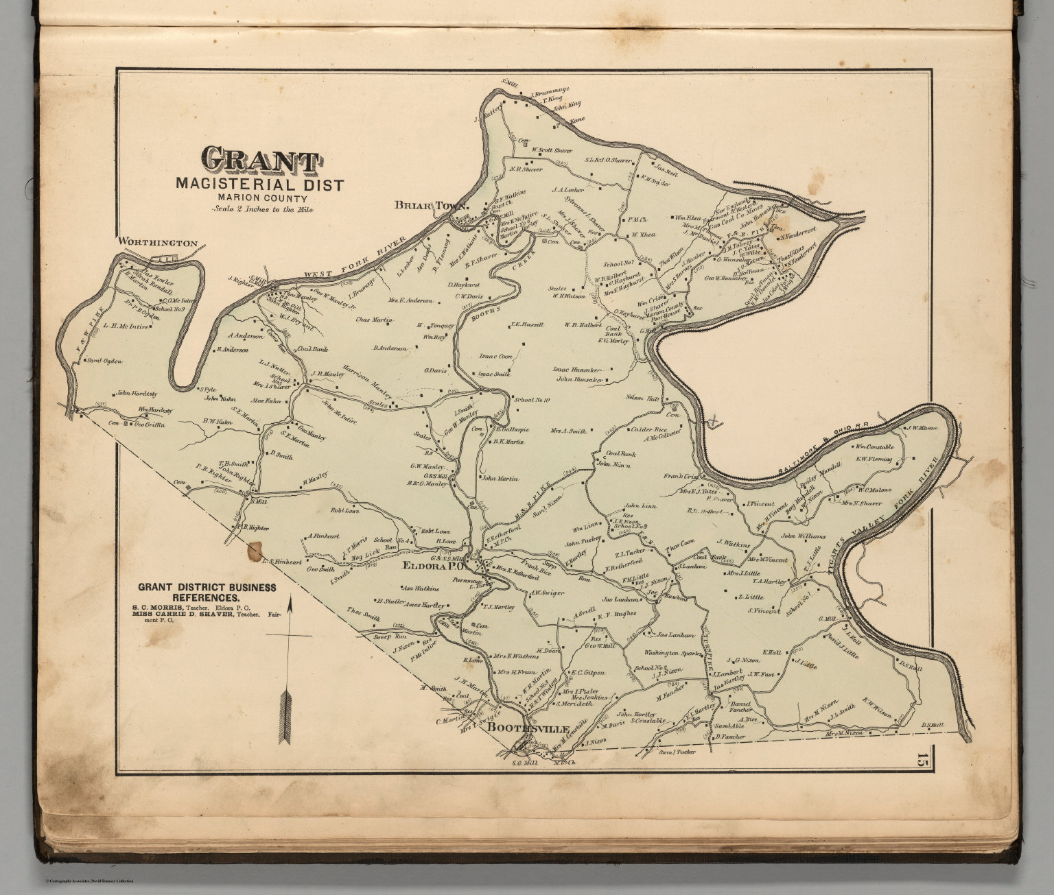 Marion Virginia Map.Grant Magisterial District Marion County West Virginia David