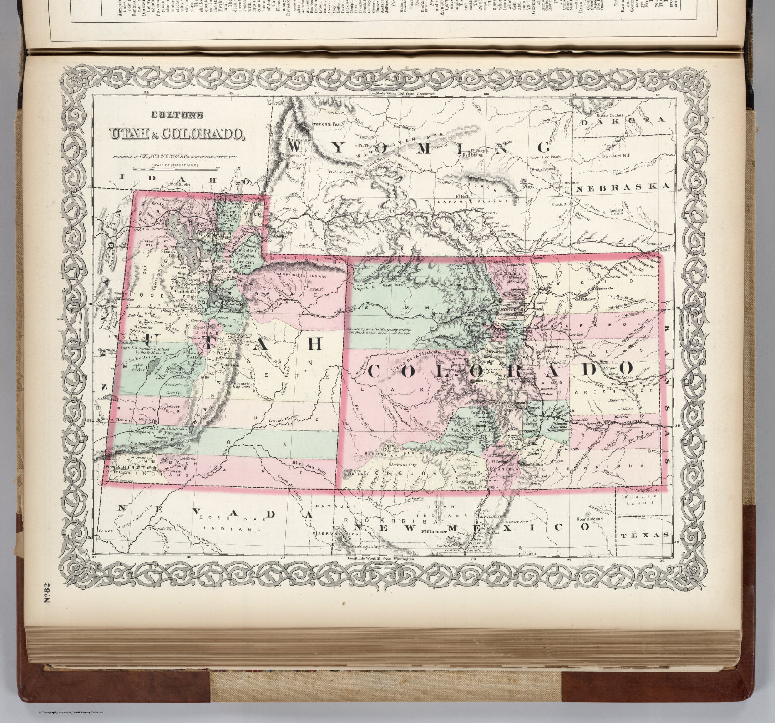 Utah. Colorado. - David Rumsey Historical Map Collection