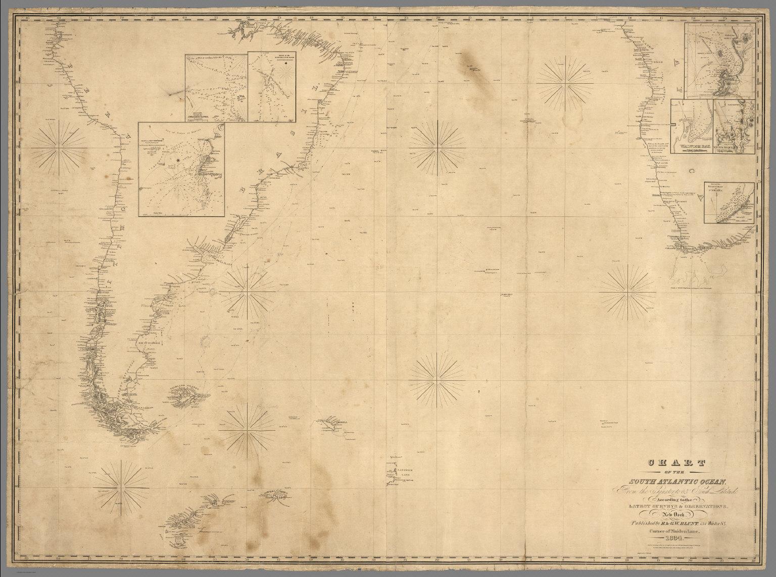 Chart Of The South Atlantic Ocean
