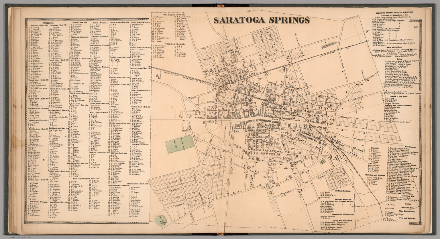 Saratoga Springs New York David Rumsey Historical Map Collection