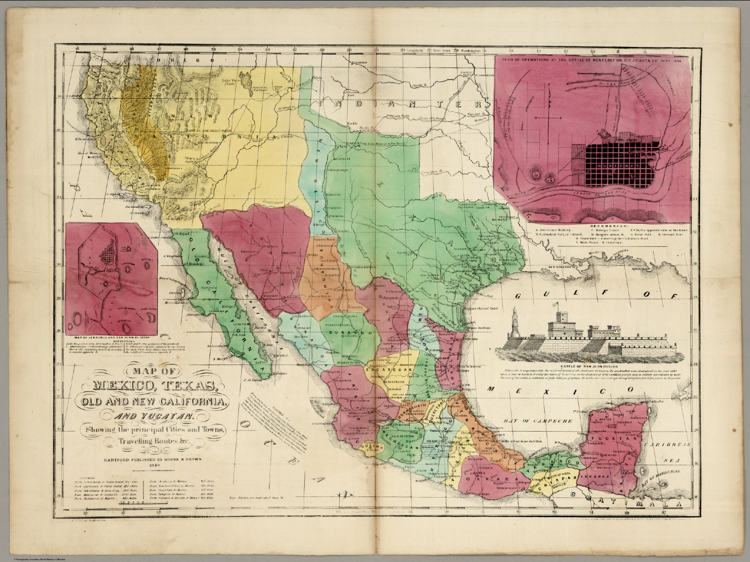 Map Of Texas Mexico.Map Of Mexico Texas Old And New California And Yucatan David