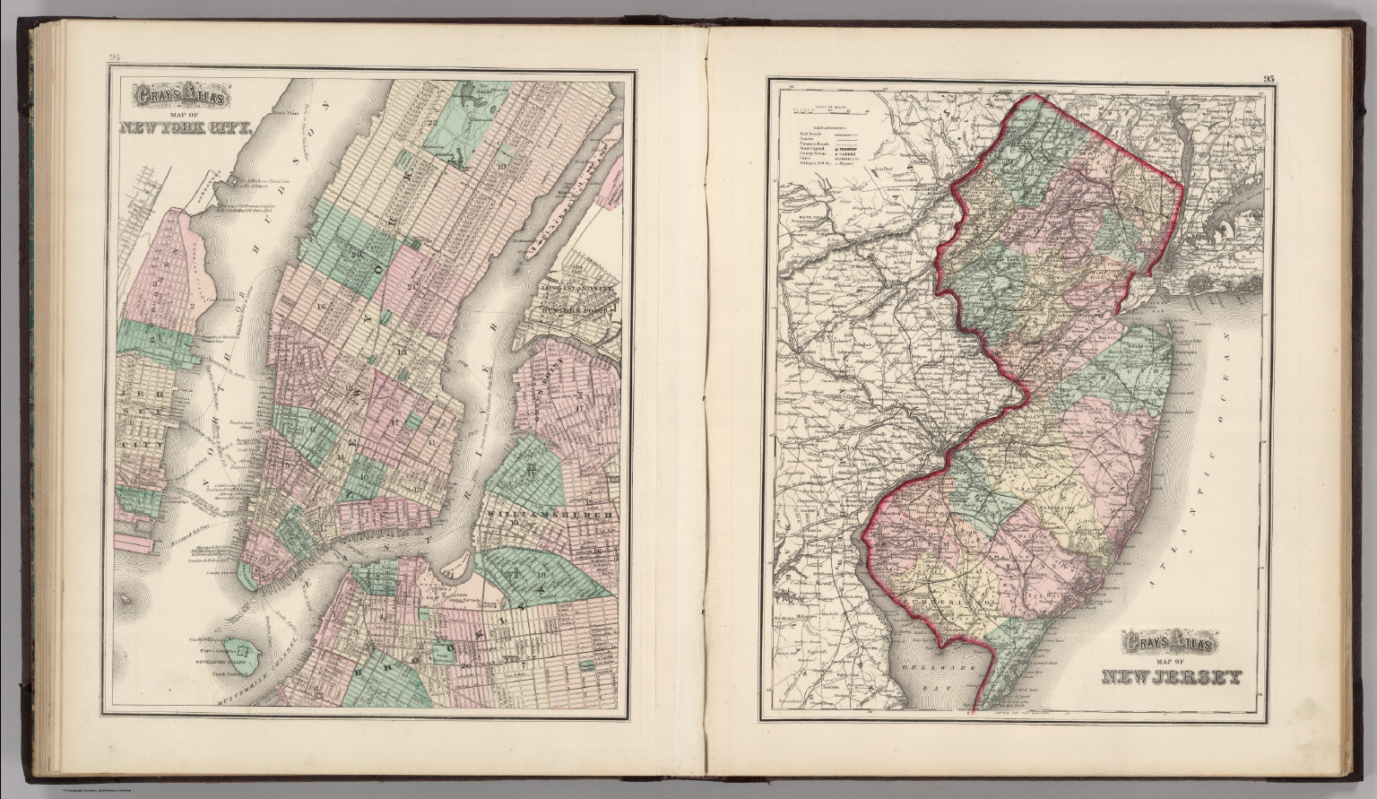 New York City New Jersey David Rumsey Historical Map Collection