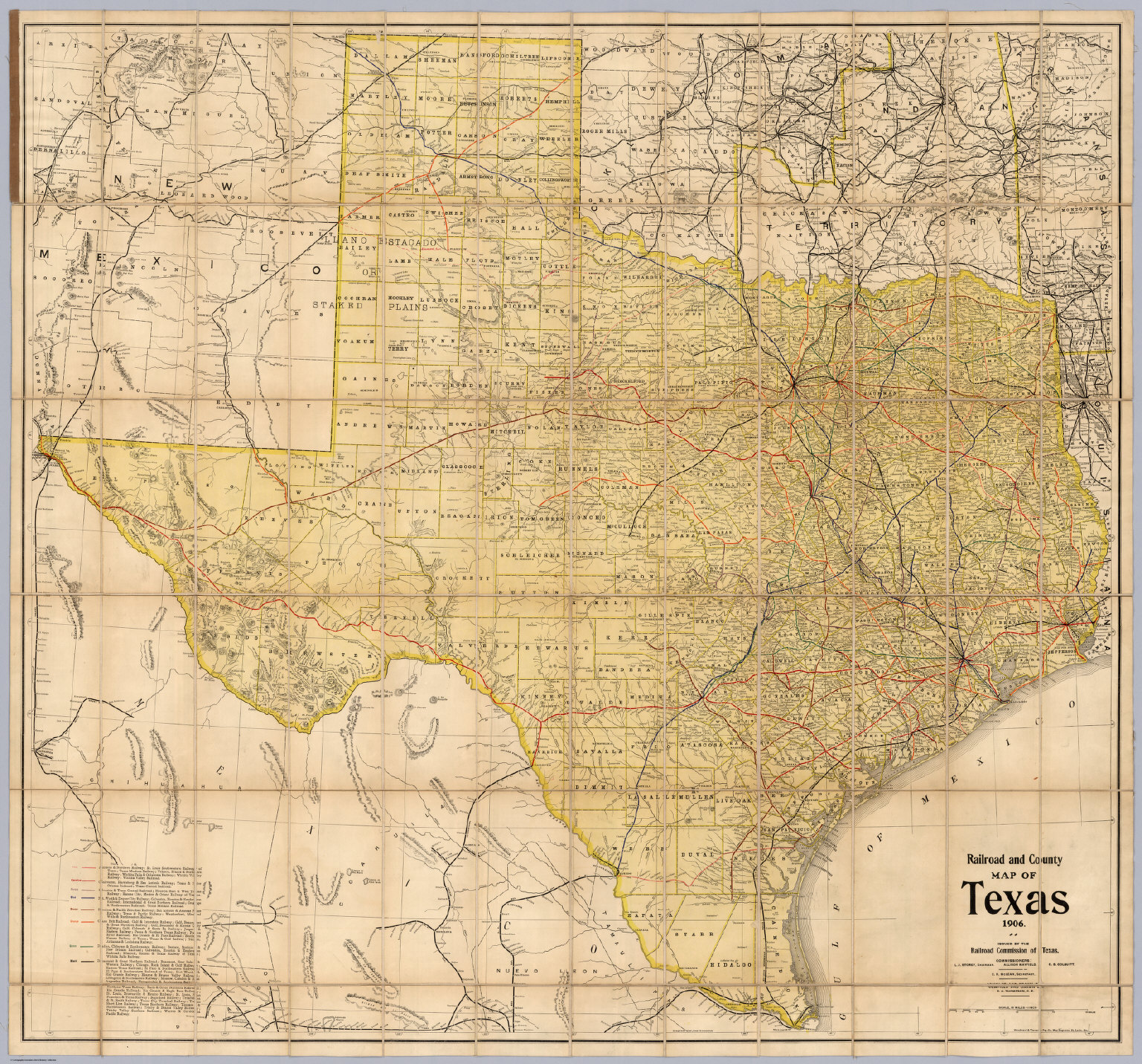 Railroad Map Of Texas.Railroad And County Map Of Texas David Rumsey Historical Map