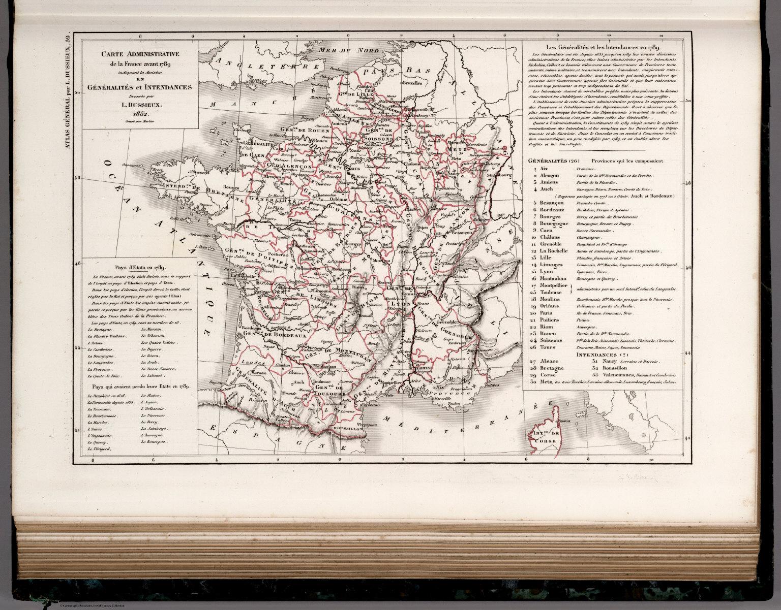 59 Carte Administrative De La France Avant 1789 Generalities Et