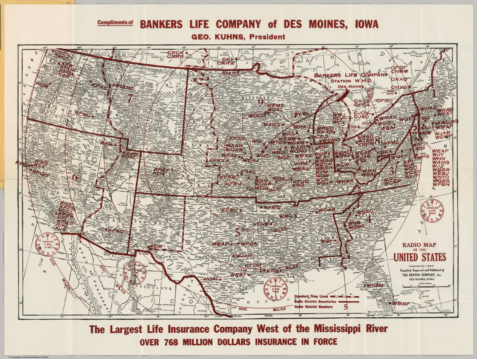 Radio Map Of The United States David Rumsey Historical Map Collection