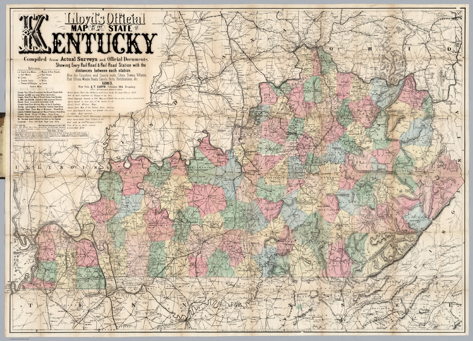 Lloyd's Official Map Of The State Of Kentucky - David Rumsey ... on pennsylvania state railroad map, ny state railroad map, oklahoma state railroad map, tennessee state railroad map, western kentucky railroad map, washington state railroad map, montana state railroad map, illinois state railroad map, louisiana state railroad map, iowa state railroad map, kentucky dot railroad map, dawkins rail trail map, new york state railroad map, missouri state railroad map, kentucky state house district map, texas state railroad map, kentucky state road map,