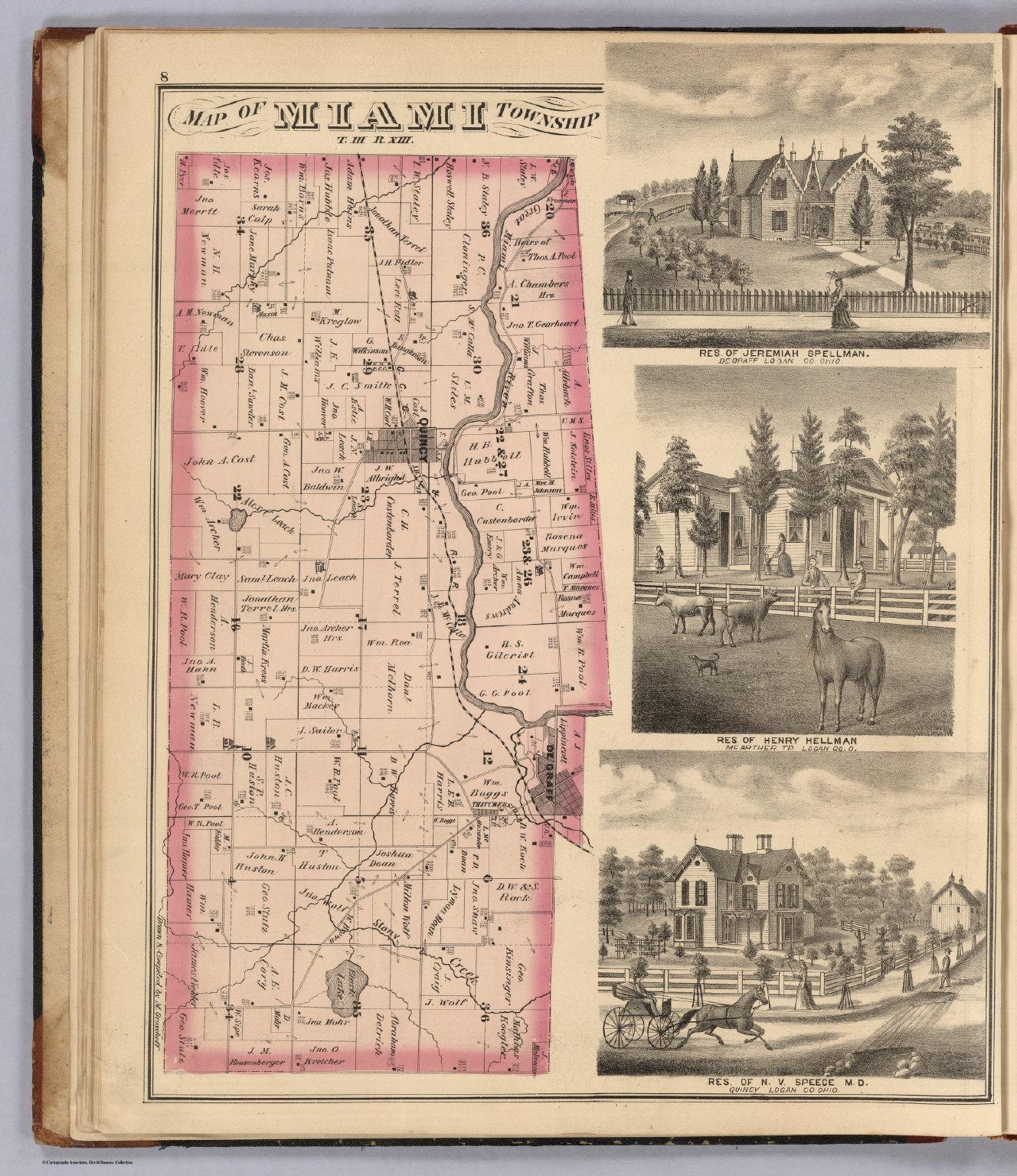 Miami Township Ohio Map.Miami Township Logan County Ohio Views Residences Of Jeremiah