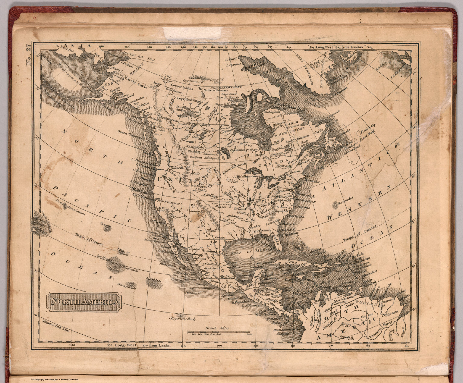 Old North America Map.North America David Rumsey Historical Map Collection