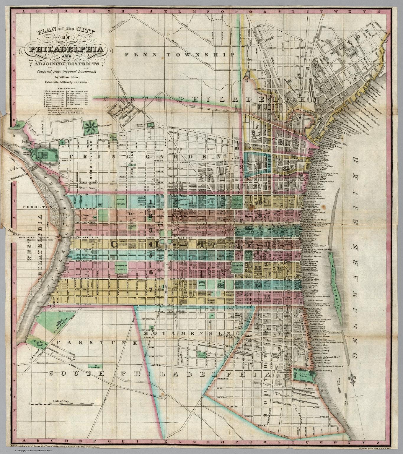 Plan Of The City Of Philadelphia David Rumsey Historical Map - Historic philadelphia map
