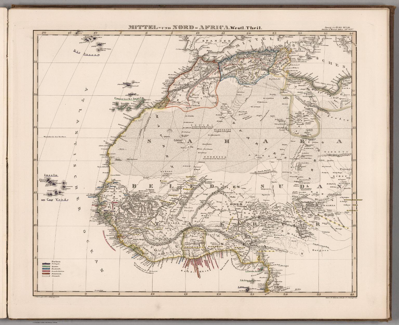 Mittel - und Nord-Afrika. (West and North Africa).