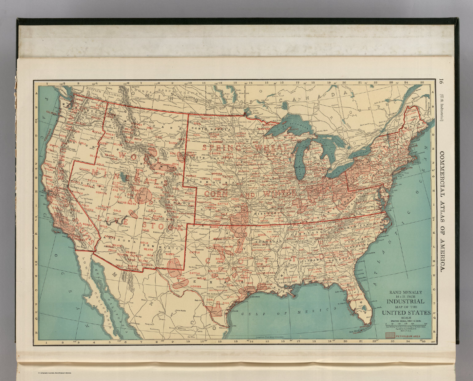 Industrial Map Of The United States David Rumsey Historical Map - Where Are The Industrial On The Us Map