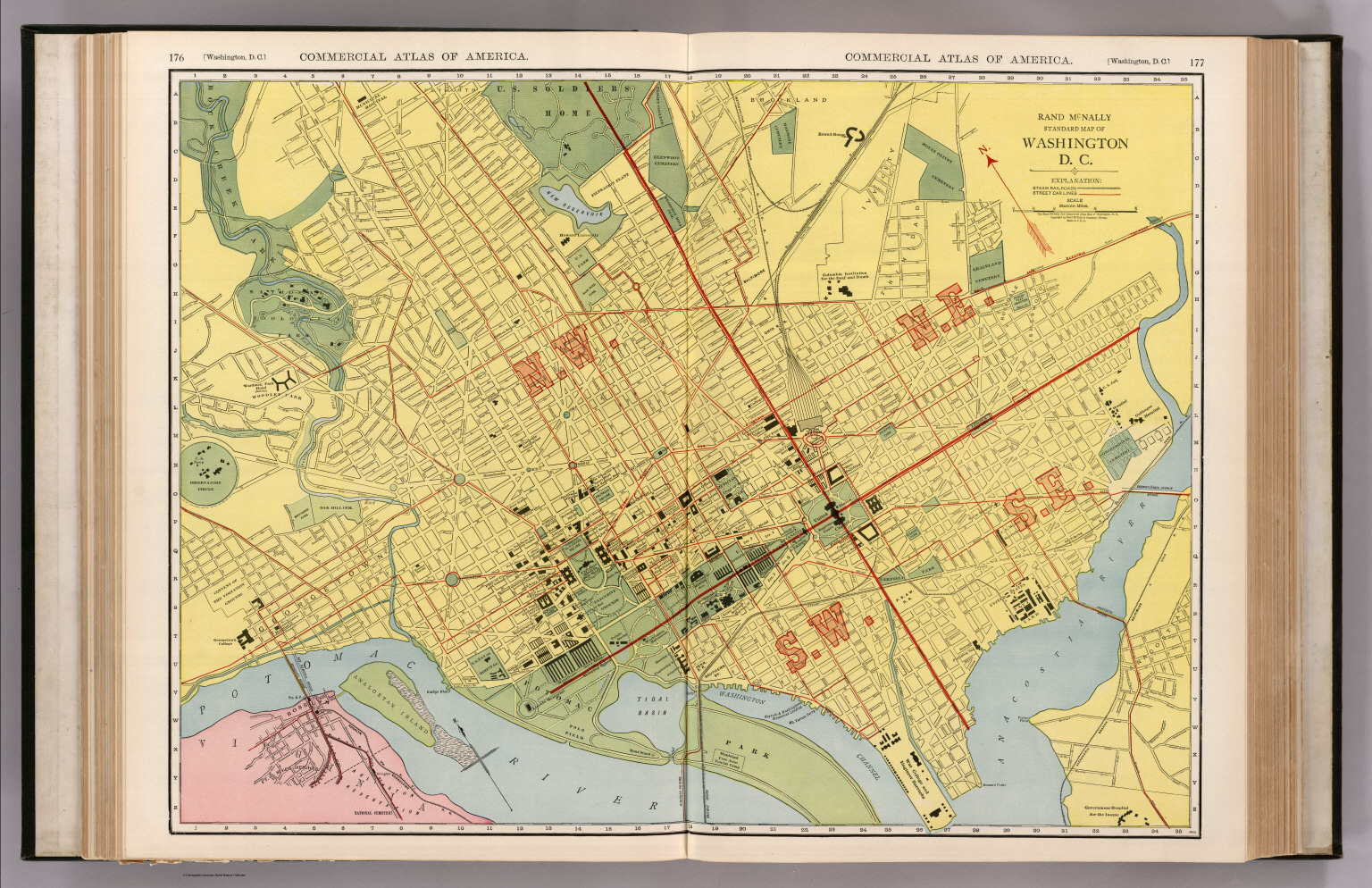 image regarding Printable Maps of Washington Dc known as Washington D.C. - David Rumsey Historic Map Assortment