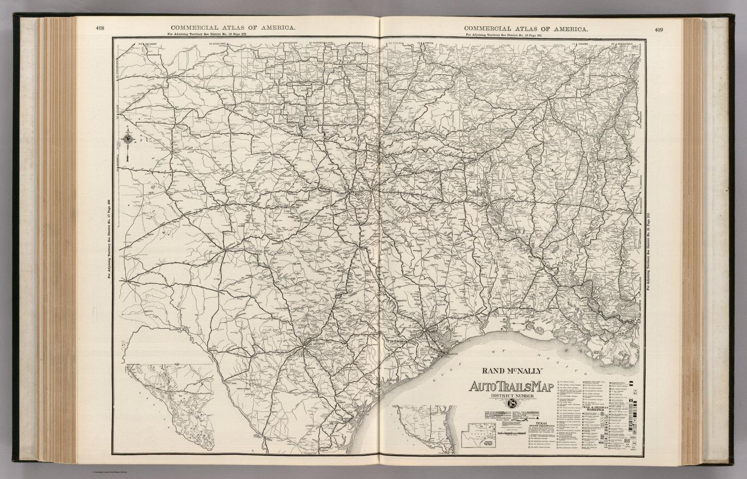 Map Of Texas Louisiana.Autotrails Map Texas Oklahoma Louisiana Arkansas David Rumsey