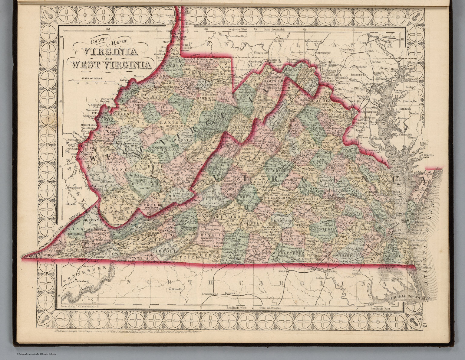 Map Of Virginia And West Virginia Together.County Map Of Virginia And West Virginia David Rumsey Historical