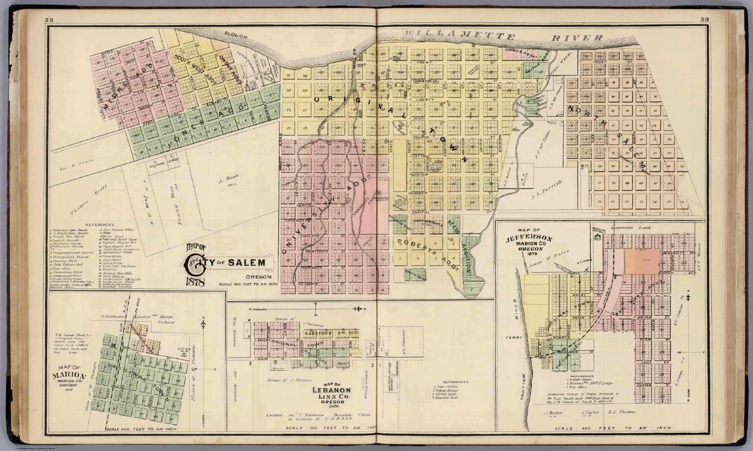 City of Salem, Oregon, 1878. - David Rumsey Historical Map Collection
