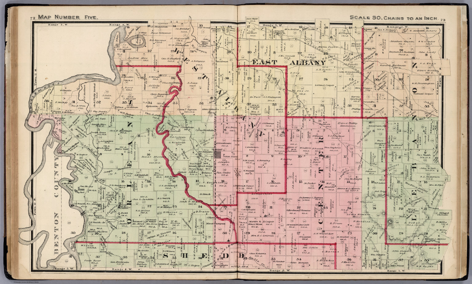 Map Number Five Linn County Oregon David Rumsey Historical Map