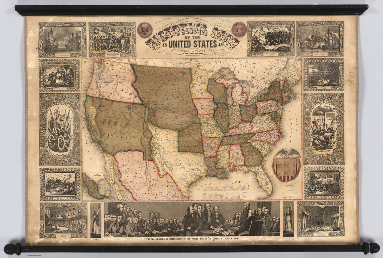 Pictorial Map Of The United States David Rumsey Historical Map - United states map picture frame