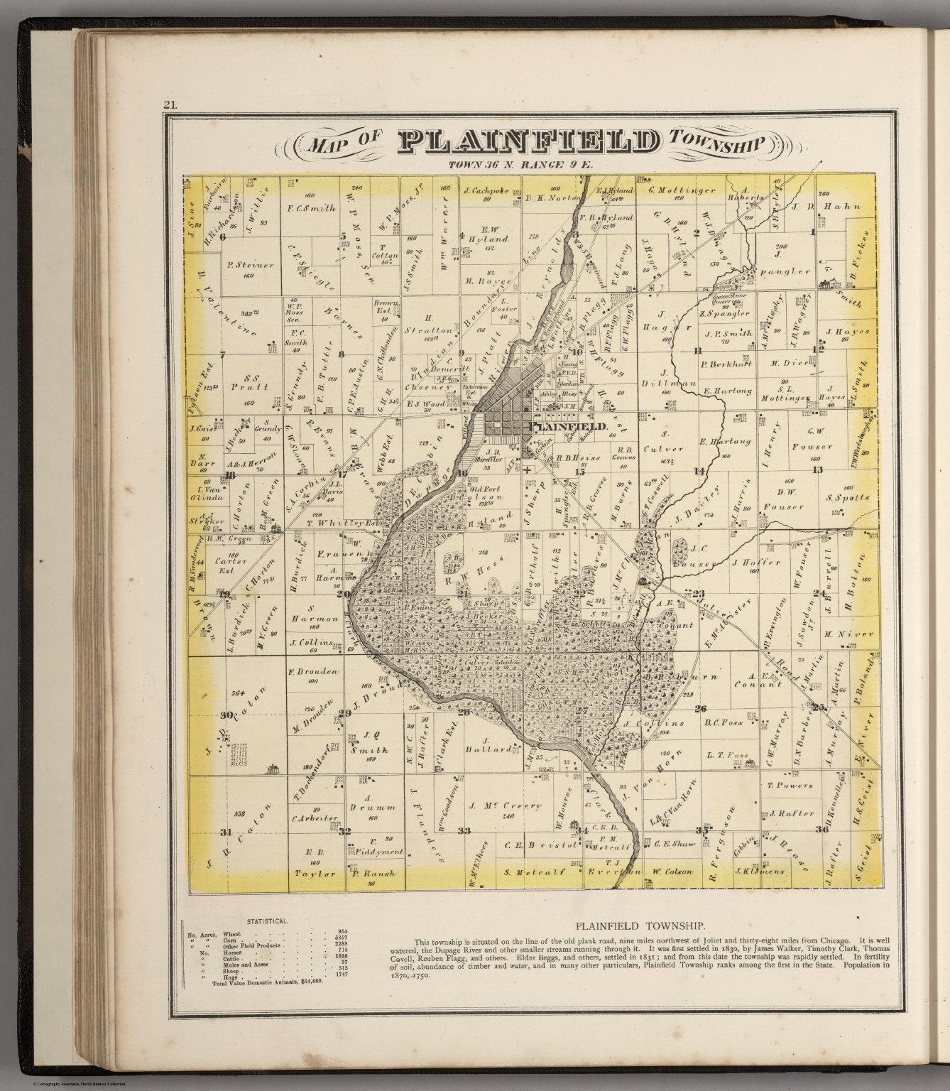 Plainfield Township Town 36 N Range 9 E Will County Illinois