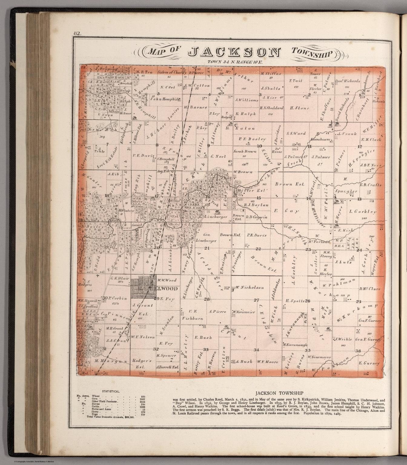 Jackson Township Town 34 N Range 10 E Will County Illinois