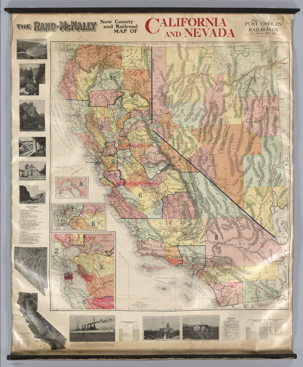 California and Nevada David Rumsey Historical Map Collection