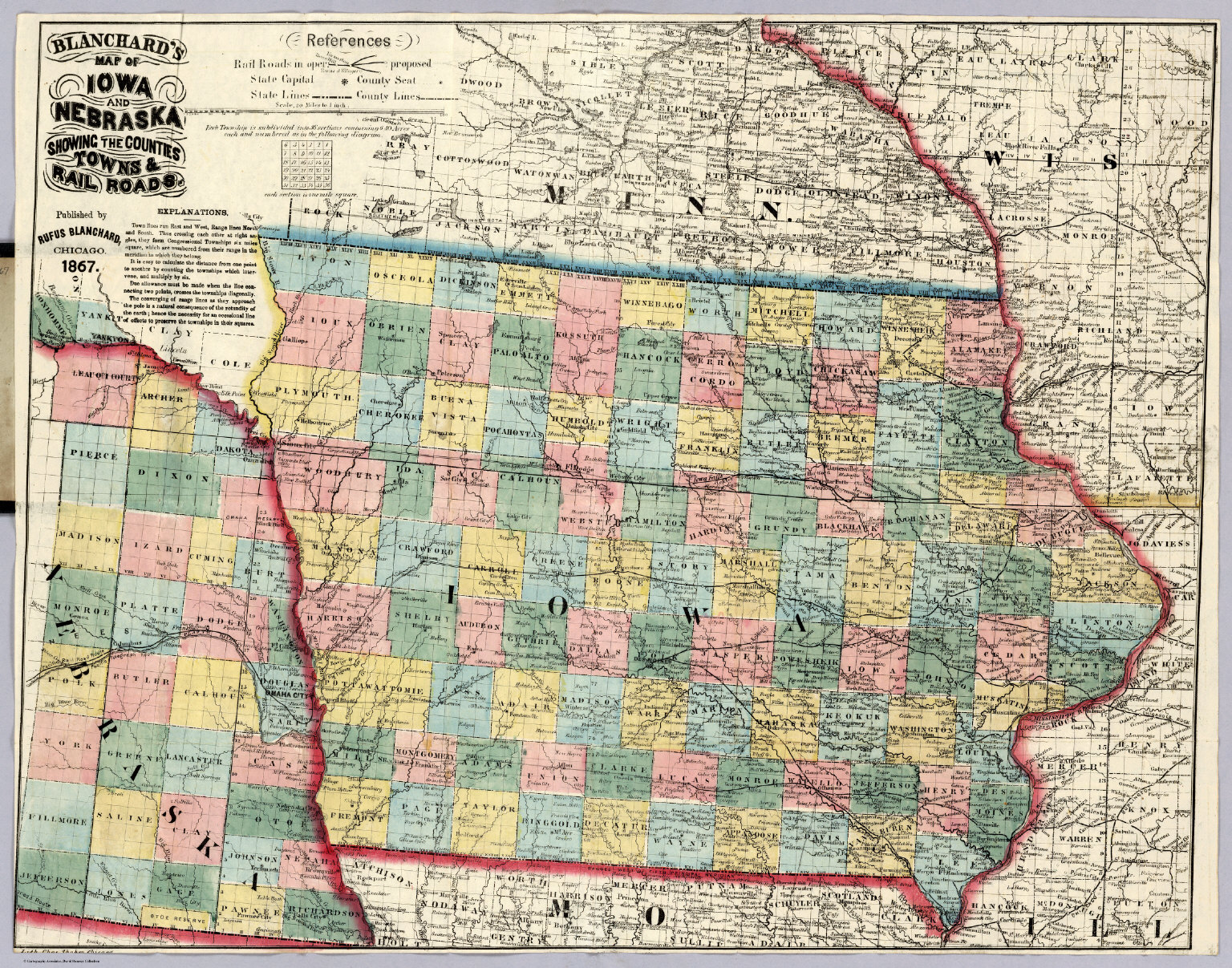 Map Of Iowa And Nebraska David Rumsey Historical Map Collection