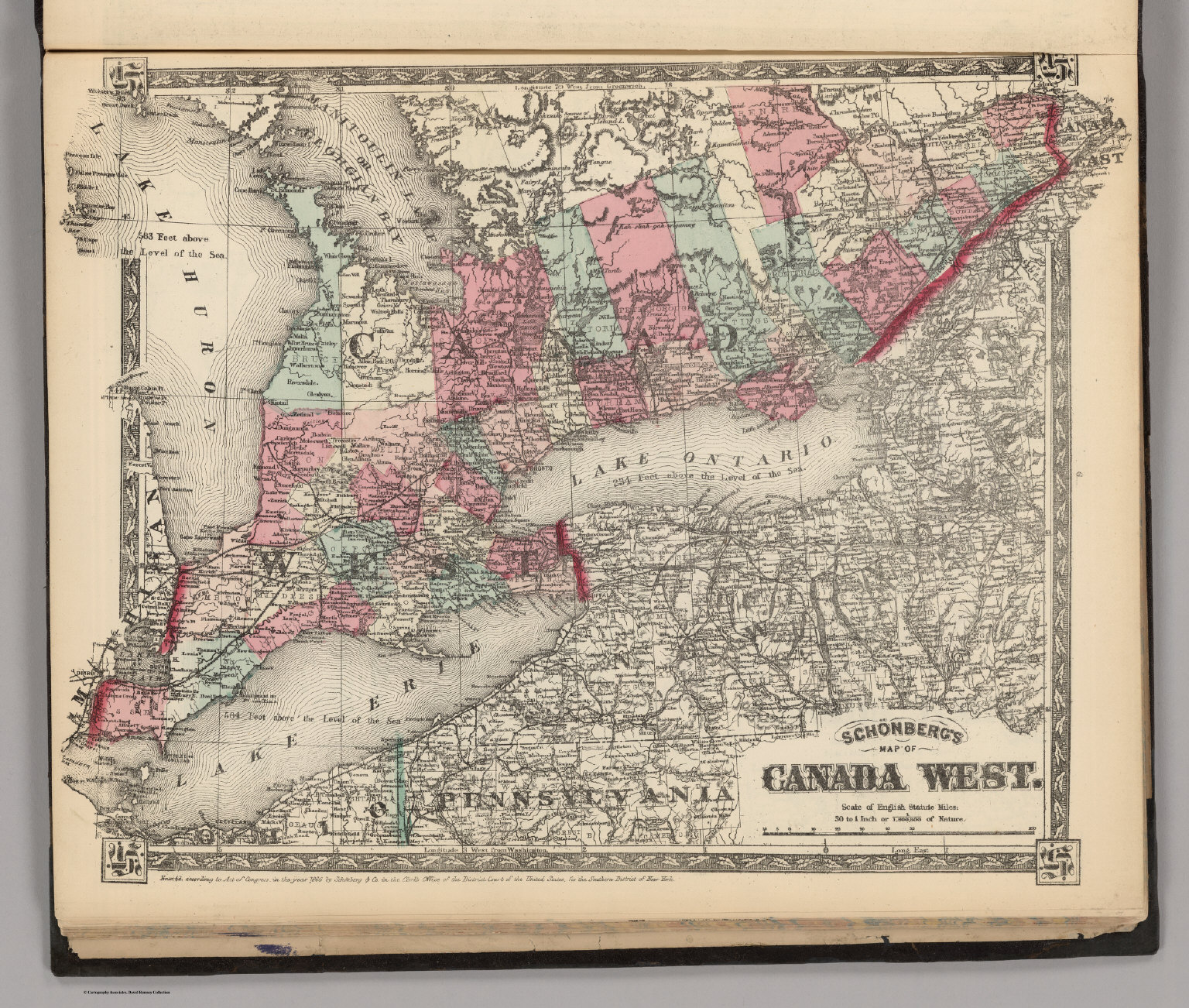 schonbergs map of canada west