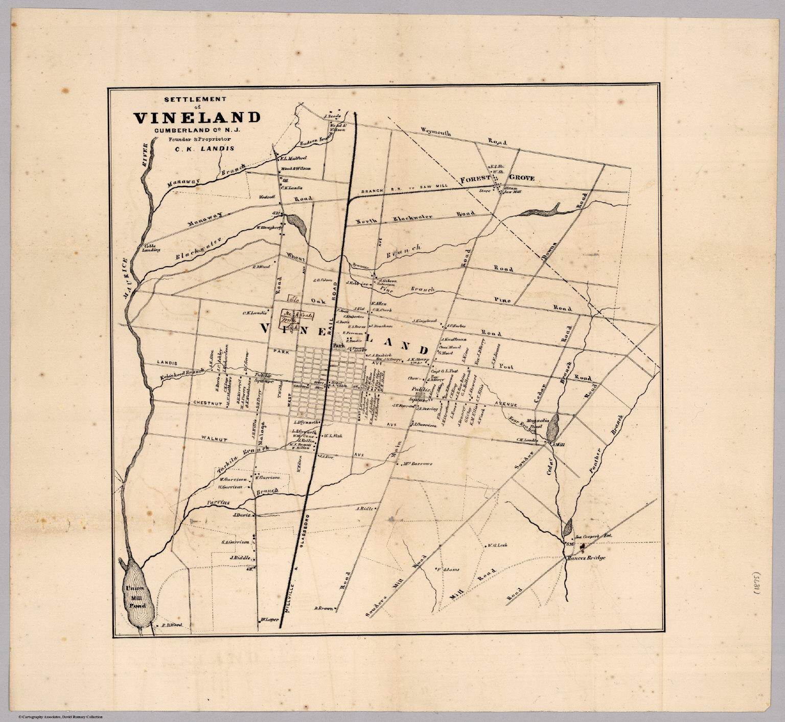 Settlement Of Vineland Cumberland County New Jersey David Rumsey