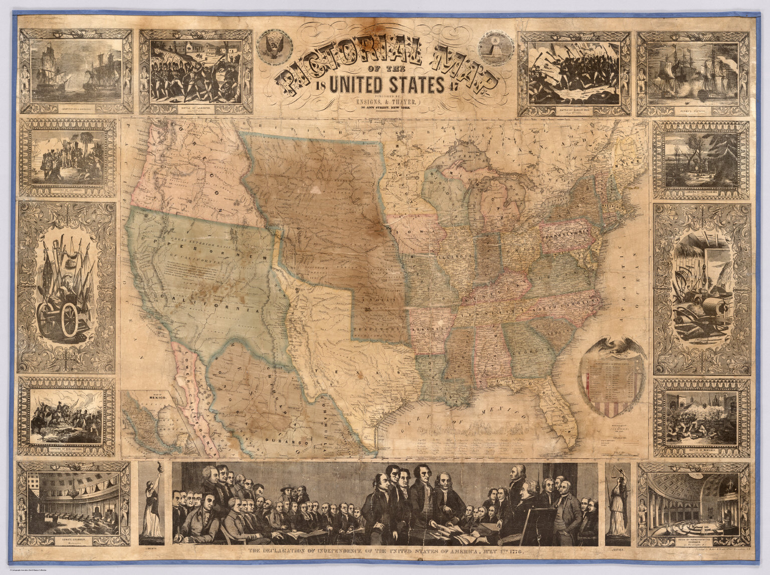 Pictorial Map Of The United States David Rumsey Historical Map
