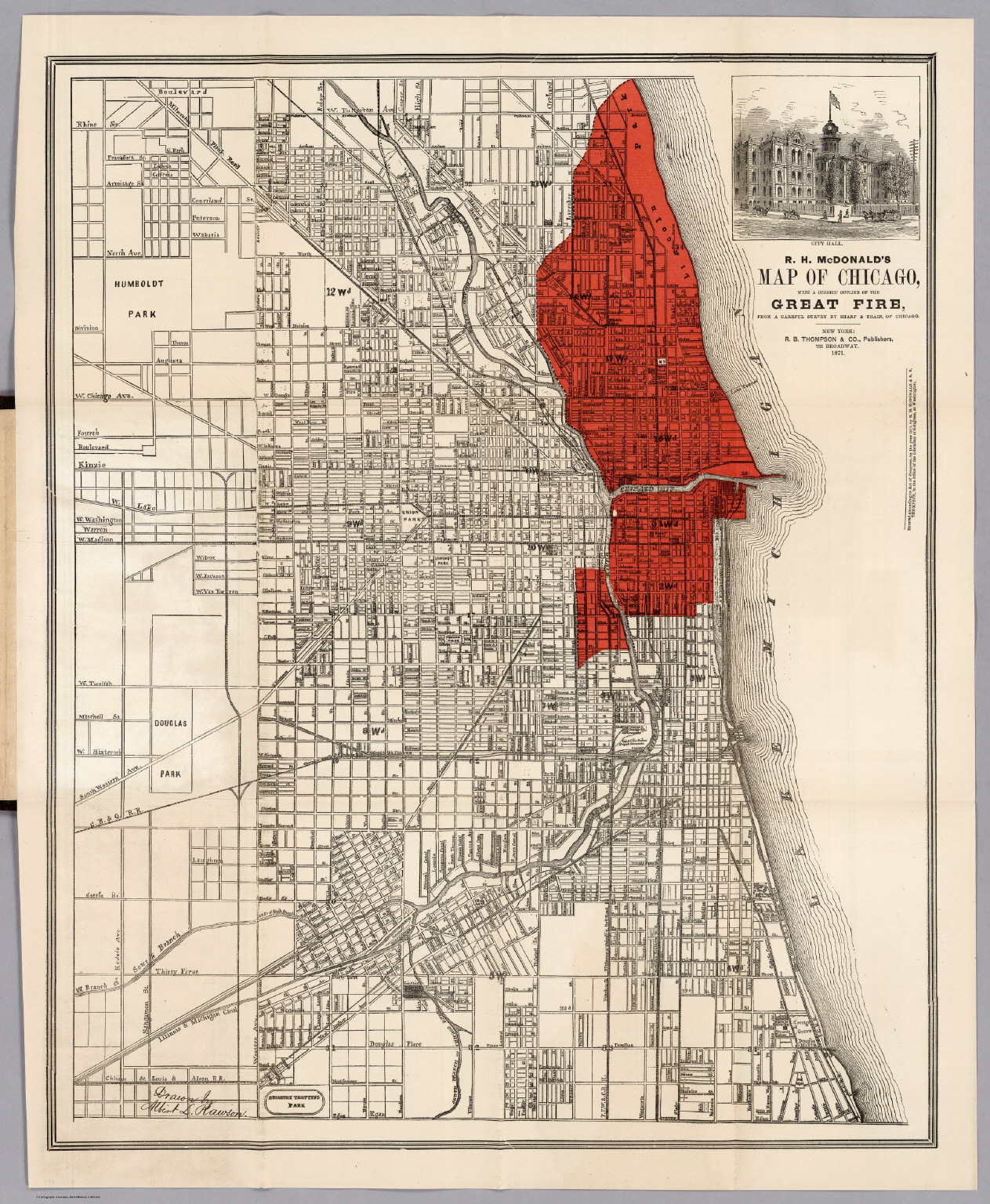 Great Chicago Fire 1871 Chicago t Chicago Fire and