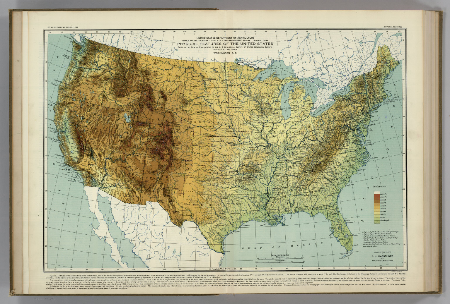 Physical Features of the United States. Atlas of American ...