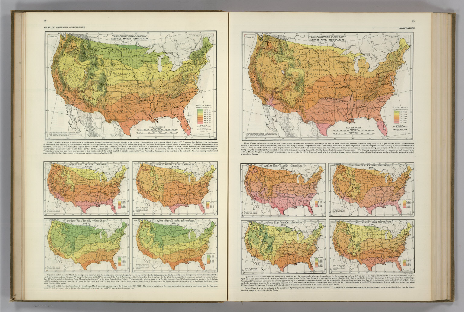 Monthly Temperature Maps: March. April. Atlas of American ...