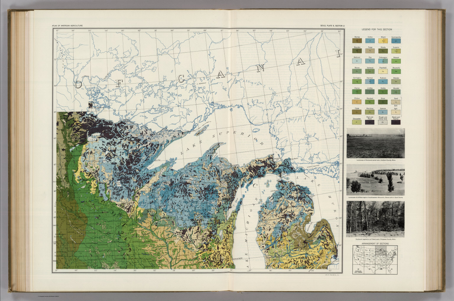 Soil Map Of The United States Section 2 Atlas Of American - Us-map-sections