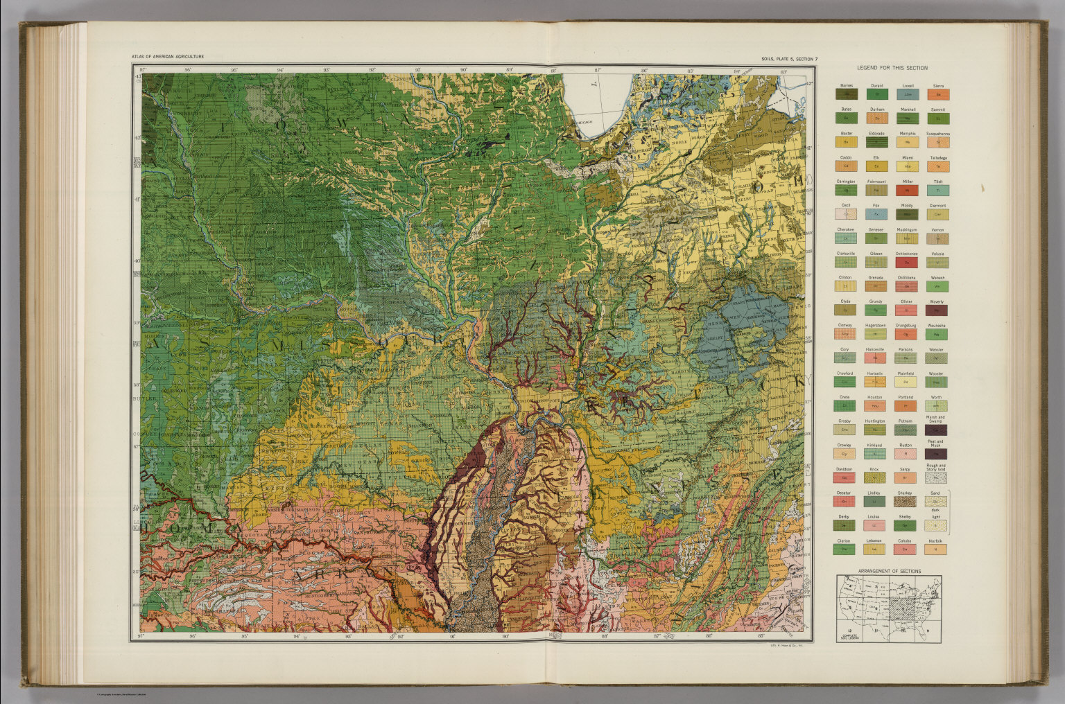Soil Map Of The United States Section 7 Atlas Of American - Us-map-sections