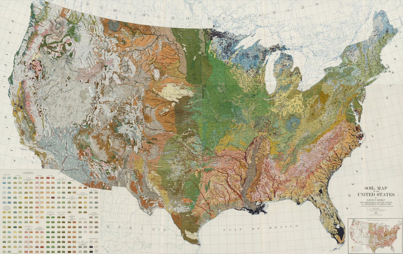 Composite Soil Map Of The United States Atlas Of American