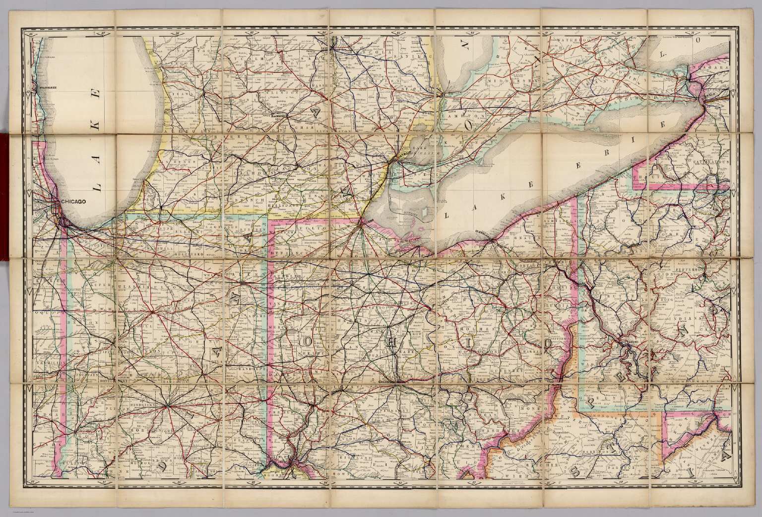 Indiana Ohio Railroad Map of the United States David Rumsey
