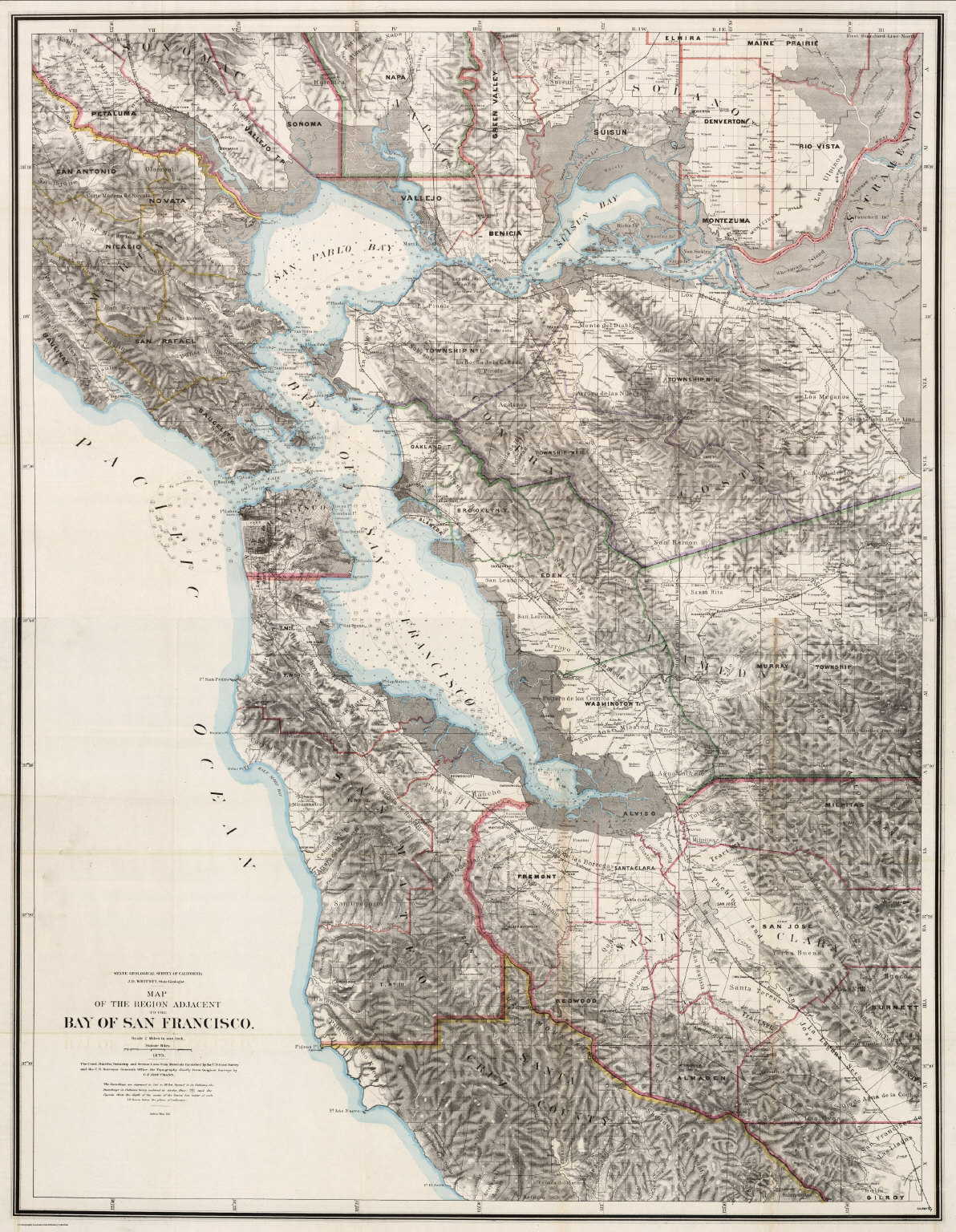 Composite Map Of The Region Adjacent To The Bay Of San Francisco