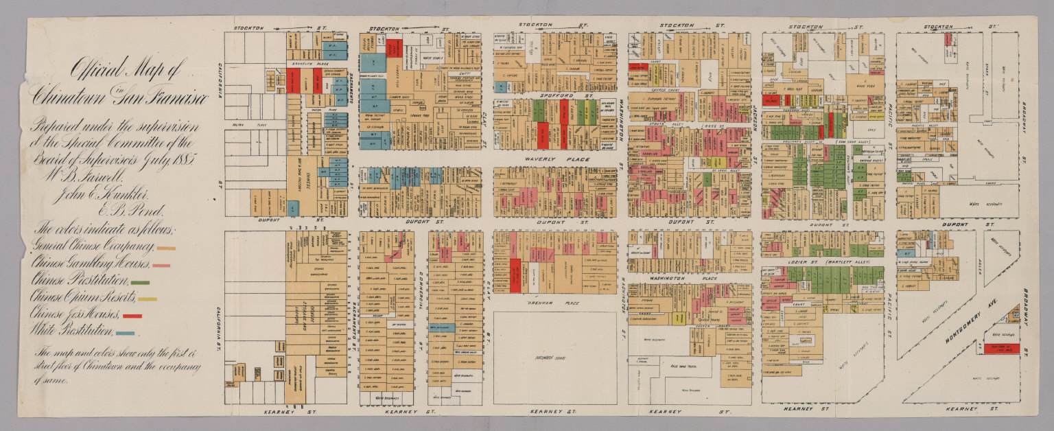 Official Map of Chinatown in San Francisco.   David Rumsey