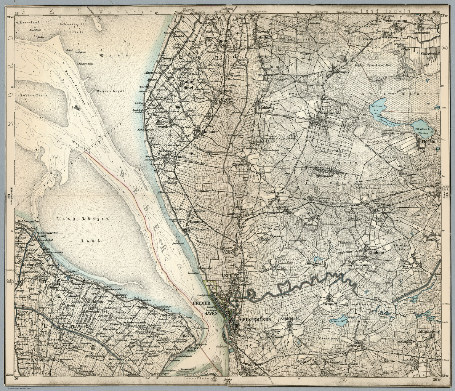 Composite 143 Bremerhaven Germany David Rumsey Historical Map