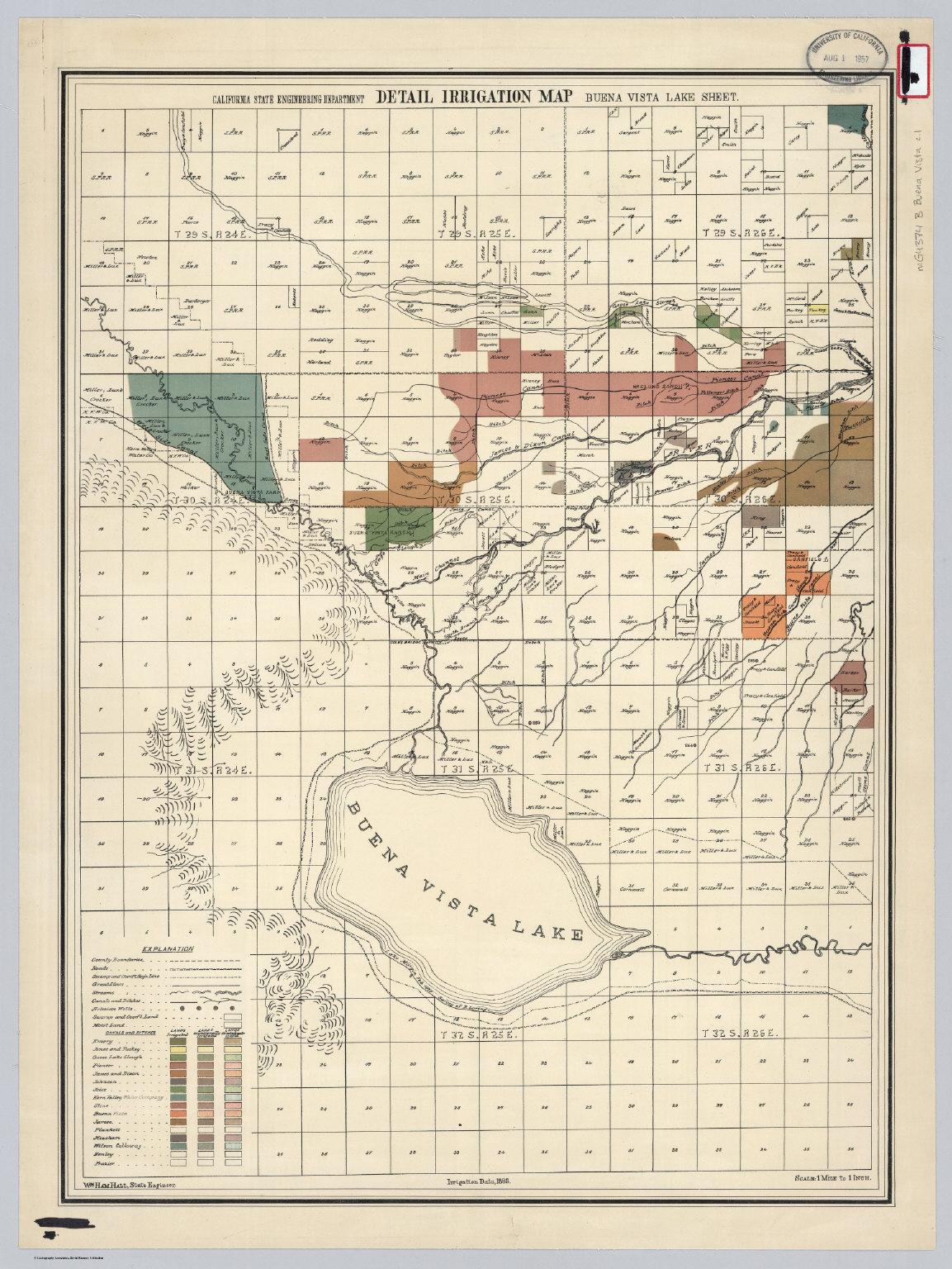 Buena Vista Lake Sheet Detail Irrigation Map David Rumsey