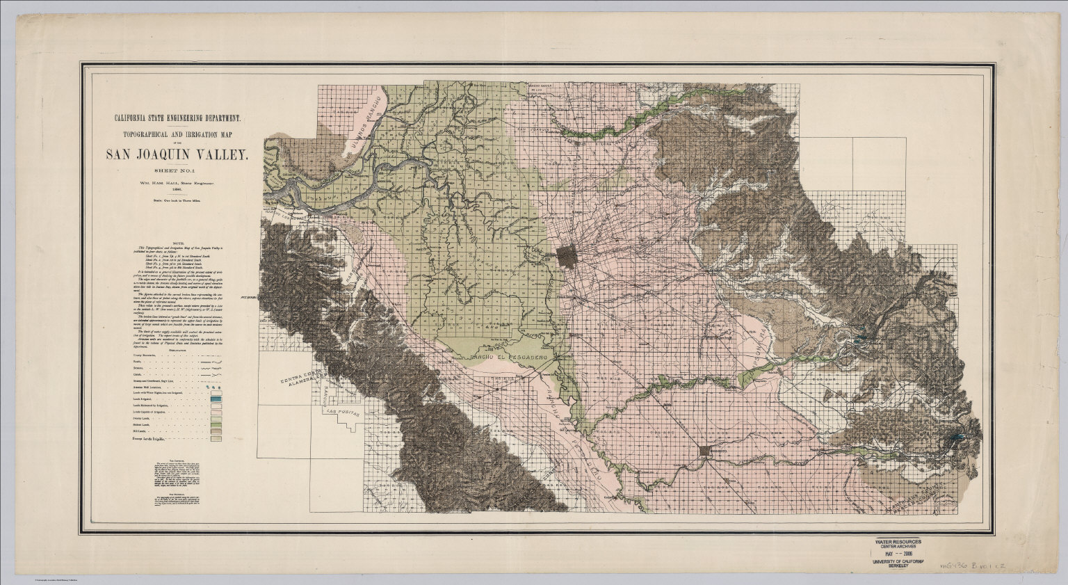 Sheet No 1 Northern Portion Irrigation Map Of The San Joaquin