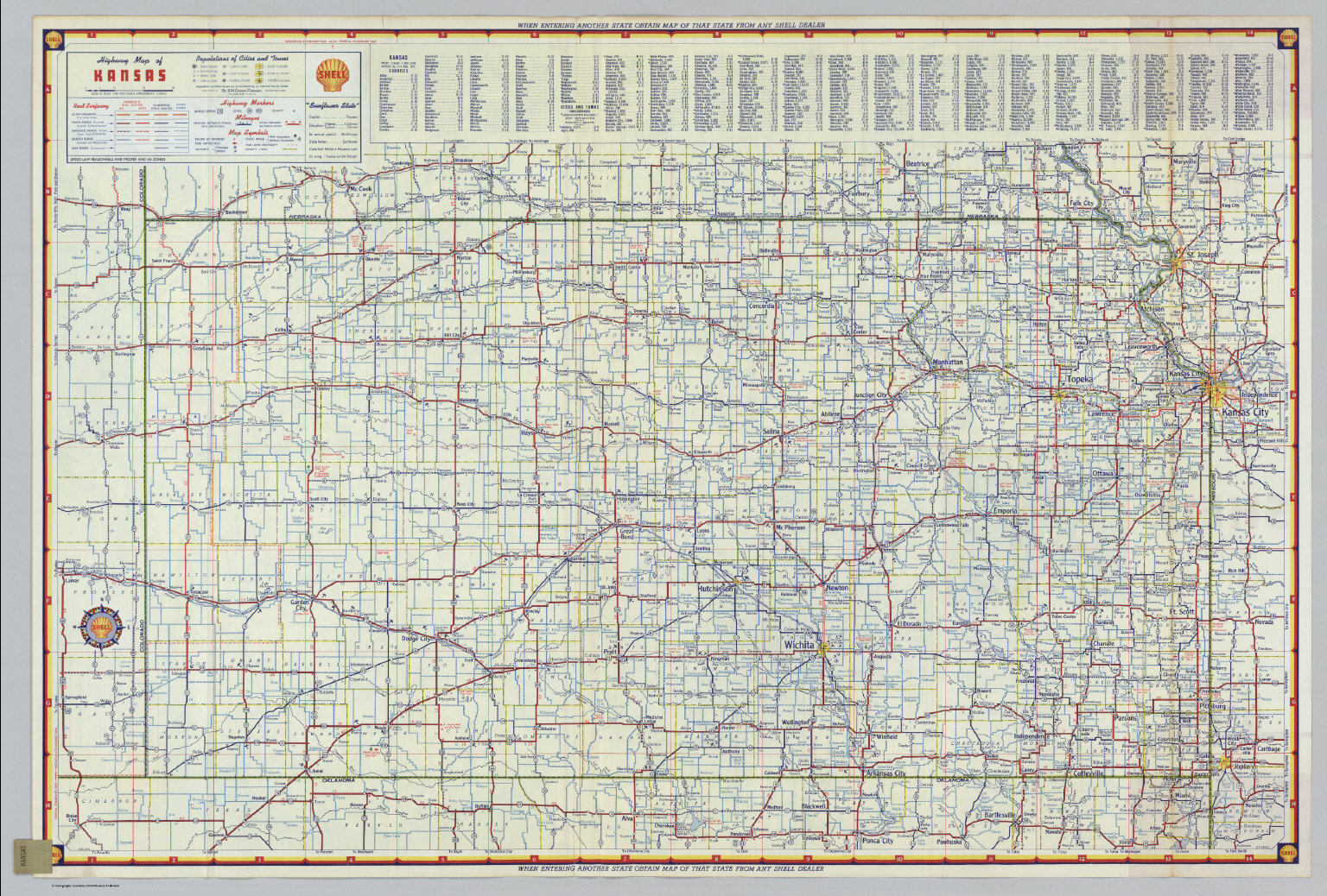 S Highway Map of Kansas. - David Rumsey Historical Map Collection on